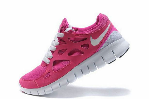 Nike Free Run 2 Rose Et Gris