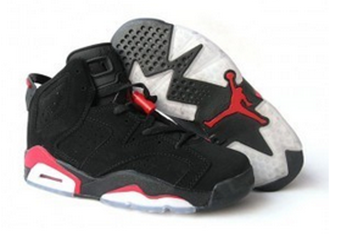 on sale 42de3 eed56 ... Nike Air Jordan Retro 6 Noir rouge Pas Cher