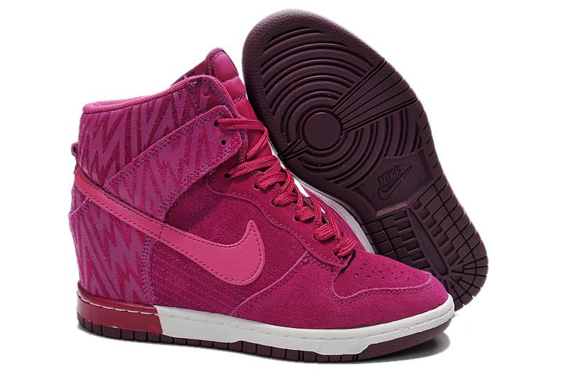 Nike dunk sky hi WoHomme rouge