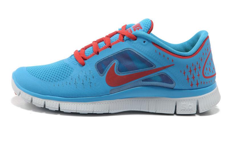 Nike Free 5.0 Bleu Et Rose